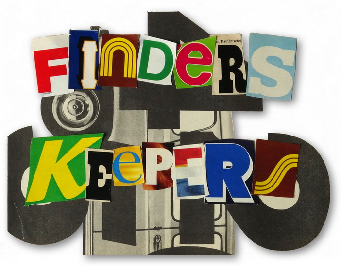 "220. Juni – 18.Juli 2014 Michael Peltzer ""Finders Keepers"" Collagen und Malerei"