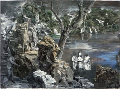 Jun Jiang im Kunstraum-unten